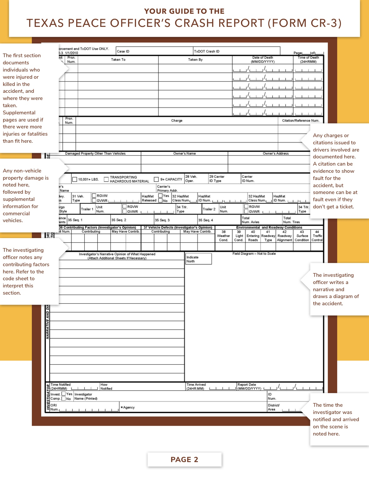Texas Accident Report, page 2